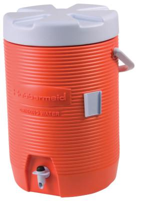 RUBBERMAID HOME PRODUCTS Water Coolers, 3 gal, Orange