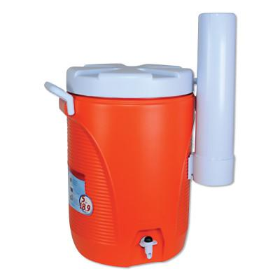 RUBBERMAID HOME PRODUCTS Water Coolers, 5 gal, Cup Holder, Orange