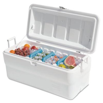 RUBBERMAID HOME PRODUCTS Marine Cooler, 102 qt, White