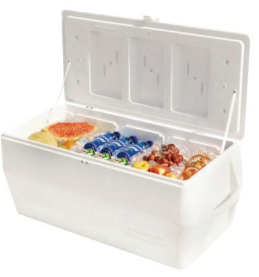 RUBBERMAID HOME PRODUCTS Marine Series Ice Chests, 150 qt, White