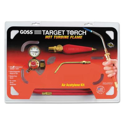 """GOSS Feather Flame Air-Acetylene Torch Outfits, 1/4"""", Acetylene(B), Soldering/Brazing"""