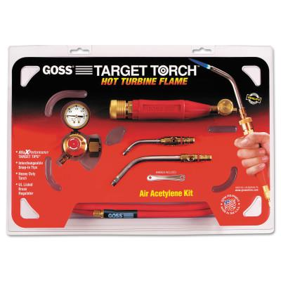 GOSS Target Torch™ Air-Acetylene Outfits, 3/8 in, 1/2 in, B Cyl Reg Fitting