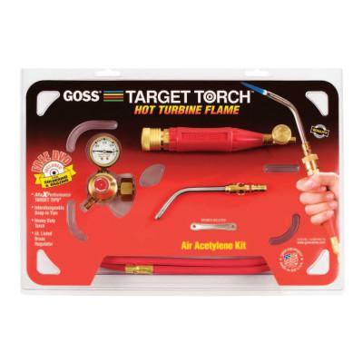 GOSS Target Torch™ Air-Acetylene Outfit, 3/8 in, B Cyl Reg Fitting
