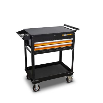 GEARWRENCH Utility Carts, 450 lb Capacity, 42 in x 20 in, Steel, Black/Orange