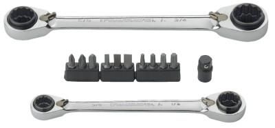 GEARWRENCH 13 Pc. QuadBox Double Box Ratcheting Wrench Sets, Inch