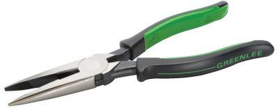 GREENLEE Long Nose Pliers, Chrome Vanadium Steel, 8 in