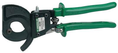 GREENLEE Performance Ratchet Cable Cutters, 10 in, Shear Cut