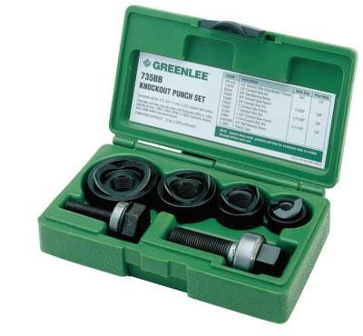 GREENLEE Manual Round Standard Knockout Punch Kits, 1/2 - 1 1/4 in