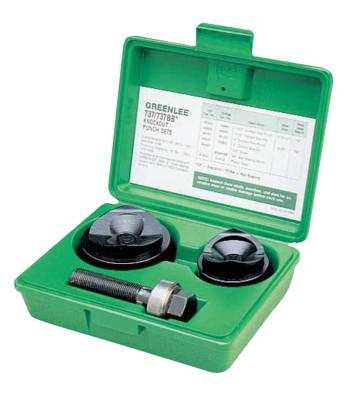 GREENLEE Manual Round Standard Knockout Punch Kits, 1 1/2 in - 2 in