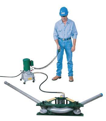 """GREENLEE Hydraulic Rigid Conduit Bender, 1 1/4-2"""" One Shot; 2 1/2-4"""" Seg, Hydraulic Ready"""