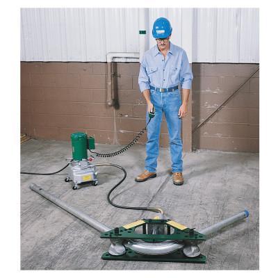 "GREENLEE Hydraulic Rigid Conduit Benders, 1 1/4-2"" One Shot; 2 1/2-4"" Segment, Electro"