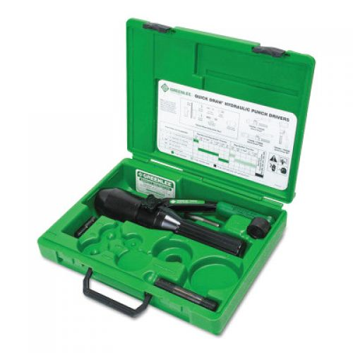 GREENLEE Quick Draw Hydraulic Punch Kits, 8 tons, 10 gauge (mild steel)