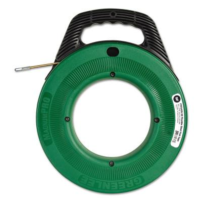 "GREENLEE Flex-O-Twist Flexible Steel Fish Tape with 12"" Plastic Reel, 3/16"" x 50 ft"