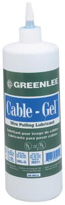GREENLEE Cable-Gel Cable Pulling Lubricants, 1 qt Squeeze Bottle
