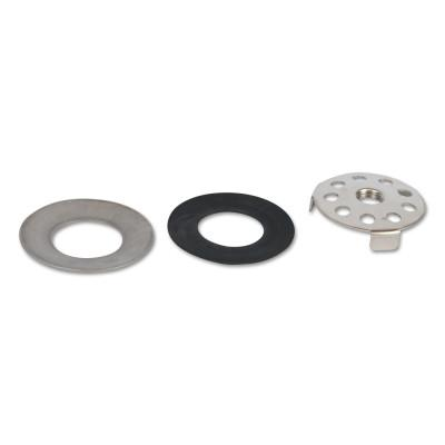 GUARDIAN Drain Plate Assemblies for Plastic Bowls, Cupped Washer; Gasket, Gray