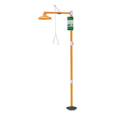 GUARDIAN Emergency Shower, Free Standing, Plastic Shower?Head, Orange