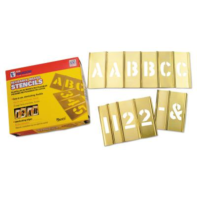 C.H. HANSON Brass Stencil Letter & Number Sets, Brass, 1 1/2 in