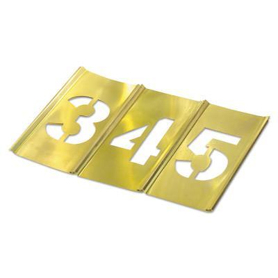 C.H. HANSON Brass Stencil Gothic Style Number Sets, Brass, 12 in