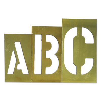 C.H. HANSON Brass Stencil Gothic Style Letter Sets, Brass, 12 in
