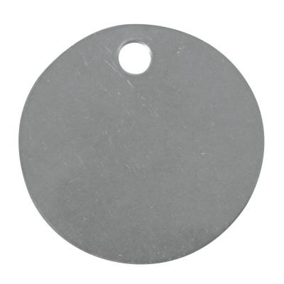 C.H. HANSON Stainless Steel Tags, 20 gauge, 1 1/2 in Diameter, 3/16 in Hole, Circle