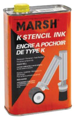C.H. HANSON 1QT BLACK METAL STENCIL INK