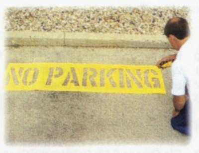 C.H. HANSON No Parking Stencil Kits, No Parking, 12 in