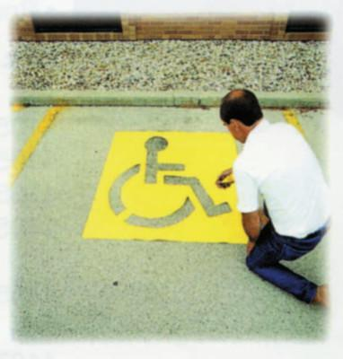 "C.H. HANSON 43"" HIGH HANDICAPPED SYMBOL PARKING LOT"