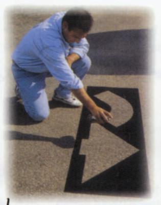 C.H. HANSON 6 Piece Parking Lot Stencil Kits, Assorted Safety Words & Symbols