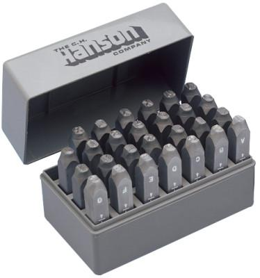 C.H. HANSON Standard Steel Hand Stamp Sets, 1/8 in, A thru Z