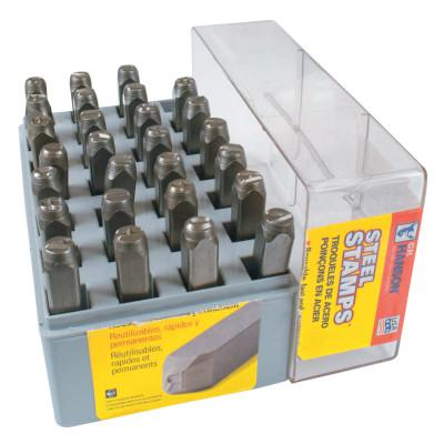 C.H. HANSON Standard Steel Hand Stamp Sets, 1/4 in, A thru Z