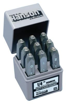 C.H. HANSON Standard Steel Hand Stamp Sets, 3/32 in, 0 thru 8