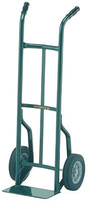 "HARPER TRUCKS Steel Hand Truck, 600lb Cap., 7x14"" Plate, Continuous Handle, Solid Rubber Wheel"