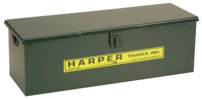 HARPER TRUCKS Tool Boxes, Truck Box, Steel, 22 in L x 7 in W x 7 in D, Green
