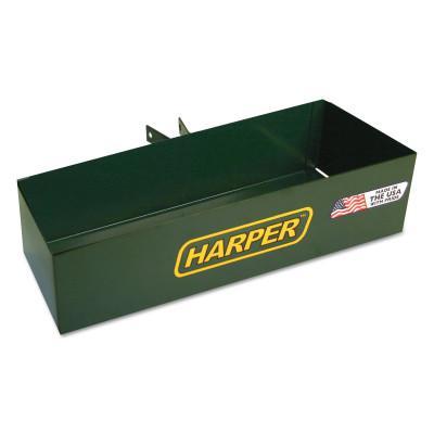 HARPER TRUCKS Tool Boxes, Bolt On, Steel, 14 /14 in L x 5 in W x 3 in D, Green