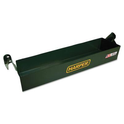 HARPER TRUCKS Tool Boxes, Bolt On, Steel, 17 1/2 in L x 5 in W x 3 in D, Green