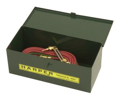HARPER TRUCKS Tool Boxes, Welding Outfit, Steel, 18 in L x 7 3/4 in W x 7 in D, Green