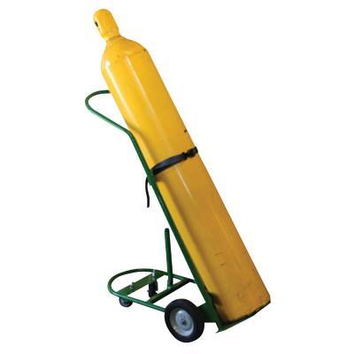 SAF-T-CART Cylinder Racks, Holds 1 Cylinder, 8 in Semi-Pneumatic Wheels