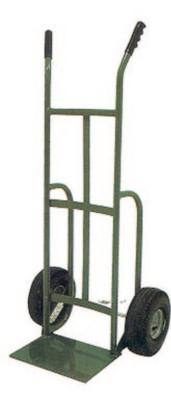 SAF-T-CART 700 Series Carts, 500 lb Cap., 14 in x 10 in Base Plate, Bent Handle