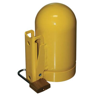 SAF-T-CART Cylinder Caps, Steel, Low Pressure, 3 1/2 in dia., Yellow