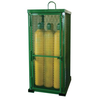 SAF-T-CART Storage Series Cylinder Cage, Locking Door, (12) Hi-Pressure Cylinders