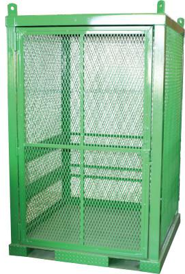 SAF-T-CART Storage Series Cylinder Cage, Locking Door, (20) Hi-Pressure Cylinders