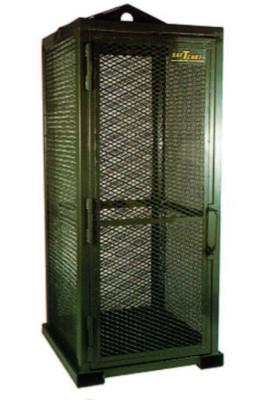 SAF-T-CART Storage Series Cylinder Cage, Locking Door, (9) Hi-Pressure Cylinders