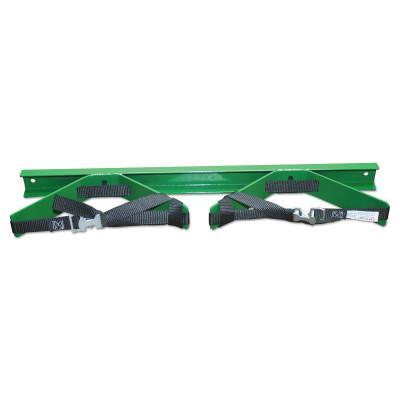 SAF-T-CART Wall Bracket, Dual, Steel, 3 in to 10 in dia, 3 in H x 14 in L, Green