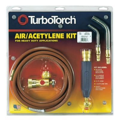 TURBOTORCH Torch Kit Swirls, Acetylene, X-5B, B Tank