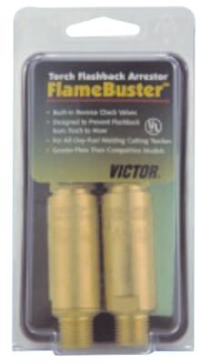 VICTOR FlameBuster™ Flashback Arrestors, FB-1; HD, Oxy/Fuel, B 9/16 in-18 RH/LH, Torch