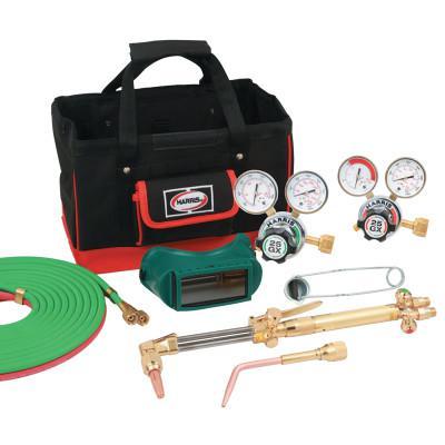 HARRIS PRODUCT GROUP Steelworker Kits, 8525-510 DLX, Regulators, Goggles, Striker, Hose, Tool Bag
