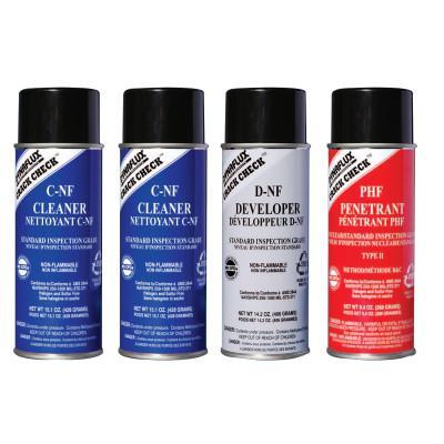 DYNAFLUX Visible Red-Dye Penetrant Test Kit, Standard Grade