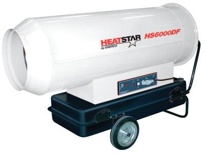 HEAT STAR Portable Diesel Direct-Fired Heaters, 35.6 gal, 115 V