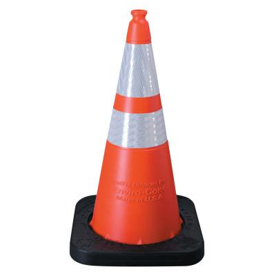 "VIZCON Enviro Cones, 28"" 10 lb, 1 -  4"" & 1 - 6"" Reflective Collar, LDPE, Orange"