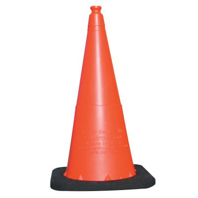 VIZCON Enviro Cones, 28 in, 7 lb, No Reflective Collar, LDPE, Orange